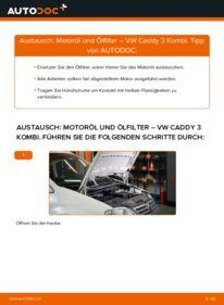 Wie der Wechsel durchführt wird: Ölfilter 1.9 TDI Caddy 3 tauschen