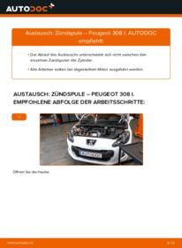 Wie der Wechsel durchführt wird: Zündspule 1.6 HDi Peugeot 308 I tauschen