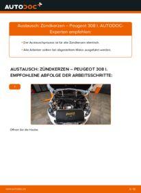 Wie der Wechsel durchführt wird: Zündkerzen 1.6 HDi Peugeot 308 I tauschen