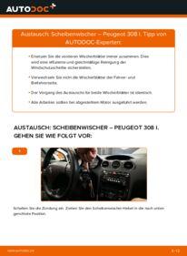 Wie der Wechsel durchführt wird: Scheibenwischer 1.6 HDi Peugeot 308 I tauschen