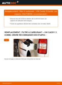 Comment effectuer un remplacement de Filtre à Carburant sur 1.9 TDI VW Caddy 3