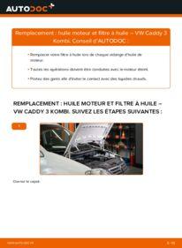 Comment effectuer un remplacement de Filtre à Huile sur 1.9 TDI VW Caddy 3