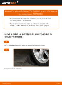 Cómo realizar una sustitución de Pinzas de Freno en un VW CADDY