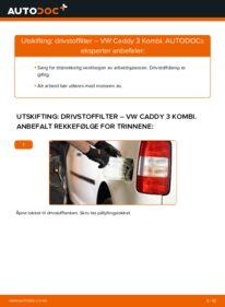 Slik bytter du Drivstoffilter på VW CADDY
