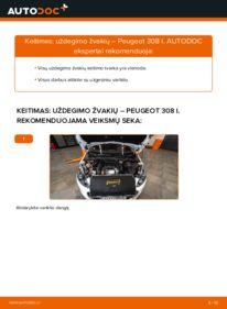 Kaip atlikti keitimą: 1.6 HDi Peugeot 308 I Uždegimo žvakė