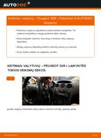 Kaip atlikti keitimą: 1.6 HDi Peugeot 308 I Valytuvo gumelė