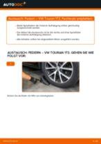 Einbau von Stoßdämpfer Feder beim VW TOURAN (1T3) - Schritt für Schritt Anweisung