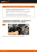 Hoe ruitenwissers vooraan vervangen bij een VW Touran 1T3 – Leidraad voor bij het vervangen