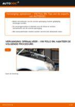Hoe Chassisveer veranderen en installeren VW POLO: pdf handleiding