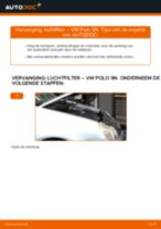 Zelf het Luchtfilter van de VW POLO (9N_) vervangen