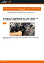Online-Anleitung zum Glühlampe Kennzeichenbeleuchtung-Austausch am VW TOURAN (1T3) kostenlos