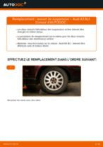Comment changer : ressort de suspension arrière sur Audi A3 8L1 - Guide de remplacement