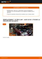 Comment changer : filtre à air sur Audi A3 8L1 - Guide de remplacement