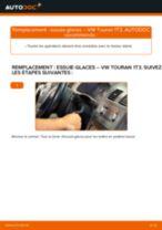 Comment changer Jeu de balais d'essuie-glace arrière et avant VW TOURAN (1T3) - manuel en ligne