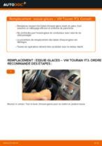 Remplacement de Balais d'essuie-glace sur VW TOURAN (1T3) : trucs et astuces