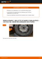 Tutoriel PDF étape par étape sur le changement de Biellette De Barre Stabilisatrice sur VW POLO (9N_)
