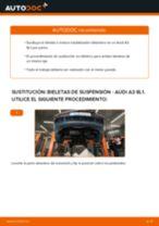 Cómo cambiar: bieletas de suspensión de la parte delantera - Audi A3 8L1 | Guía de sustitución