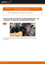 Cómo cambiar: escobillas limpiaparabrisas de la parte trasera - VW Touran 1T3   Guía de sustitución