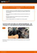 Cómo cambiar: escobillas limpiaparabrisas de la parte delantera - VW Touran 1T3   Guía de sustitución