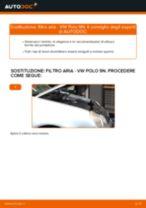 Come cambiare è regolare Filtro aria motore VW POLO: pdf tutorial