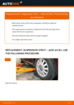 How to change front suspension strut on Audi A3 8L1 – replacement guide