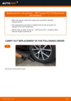 How to change front coil springs on VW Touran 1T3 – replacement guide