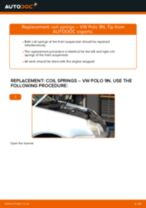 Fitting Suspension spring VW POLO (9N_) - step-by-step tutorial