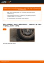 How to change rear shock absorbers on VW Polo 9N – replacement guide