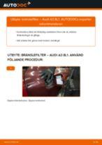 Byta bränslefilter på Audi A3 8L1 – utbytesguide