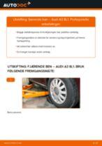 Slik bytter du fjærende ben fremme på en Audi A3 8L1 – veiledning