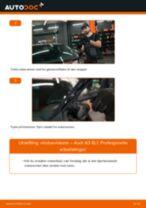 Skifte Vindusviskere AUDI A3: verkstedhåndbok