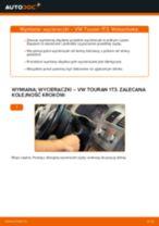 Jak wymienić i wyregulować Pióra wycieraczek VW TOURAN: poradnik pdf