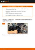 Ako vymeniť predné stierače na VW Touran 1T3 – návod na výmenu