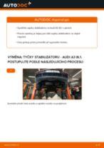 Výměna přední pravý Spojovací tyč stabilizátoru AUDI A3: online průvodce