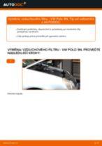 Jak vyměnit vzduchový filtr na VW Polo 9N – návod k výměně