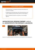 Πώς να αλλάξετε μπαρακι ζαμφορ εμπρός σε Audi A3 8L1 - Οδηγίες αντικατάστασης