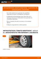 Πώς να αλλάξετε γόνατο ανάρτησης εμπρός σε Audi A3 8L1 - Οδηγίες αντικατάστασης