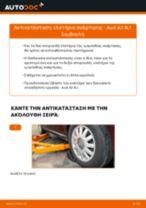 Πώς να αλλάξετε ελατήρια ανάρτησης εμπρός σε Audi A3 8L1 - Οδηγίες αντικατάστασης