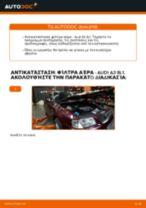 Πώς να αλλάξετε φίλτρα αέρα σε Audi A3 8L1 - Οδηγίες αντικατάστασης
