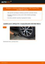 Kako zamenjati avtodel vzmetna noga (blazilnik) spredaj na avtu VW Touran 1T3 – vodnik menjave