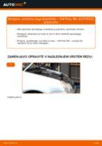 Kako zamenjati avtodel vzmetna noga (blazilnik) spredaj na avtu VW Polo 9N – vodnik menjave