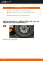 Kako zamenjati avtodel končnik stabilizatorja spredaj na avtu VW Polo 9N – vodnik menjave