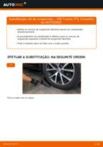 Como mudar kit de suspensão da parte dianteira em VW Touran 1T3 - guia de substituição