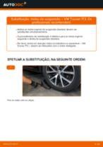 Como mudar molas de suspensão da parte dianteira em VW Touran 1T3 - guia de substituição