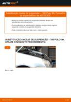 Como mudar molas de suspensão da parte dianteira em VW Polo 9N - guia de substituição