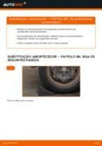 Como mudar amortecedores da parte traseira em VW Polo 9N - guia de substituição
