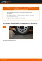 Automehaaniku soovitused, selleks et vahetada välja AUDI Audi A3 8l1 1.8 T Vedrustus