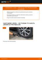 Paigaldus Vedrustus VW TOURAN (1T3) - samm-sammuline käsiraamatute