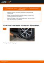 Kuidas vahetada ja reguleerida Vedrustus VW TOURAN: pdf juhend