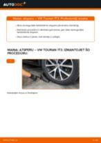 Kā nomainīt: aizmugures atsperes VW Touran 1T3 - nomaiņas ceļvedis